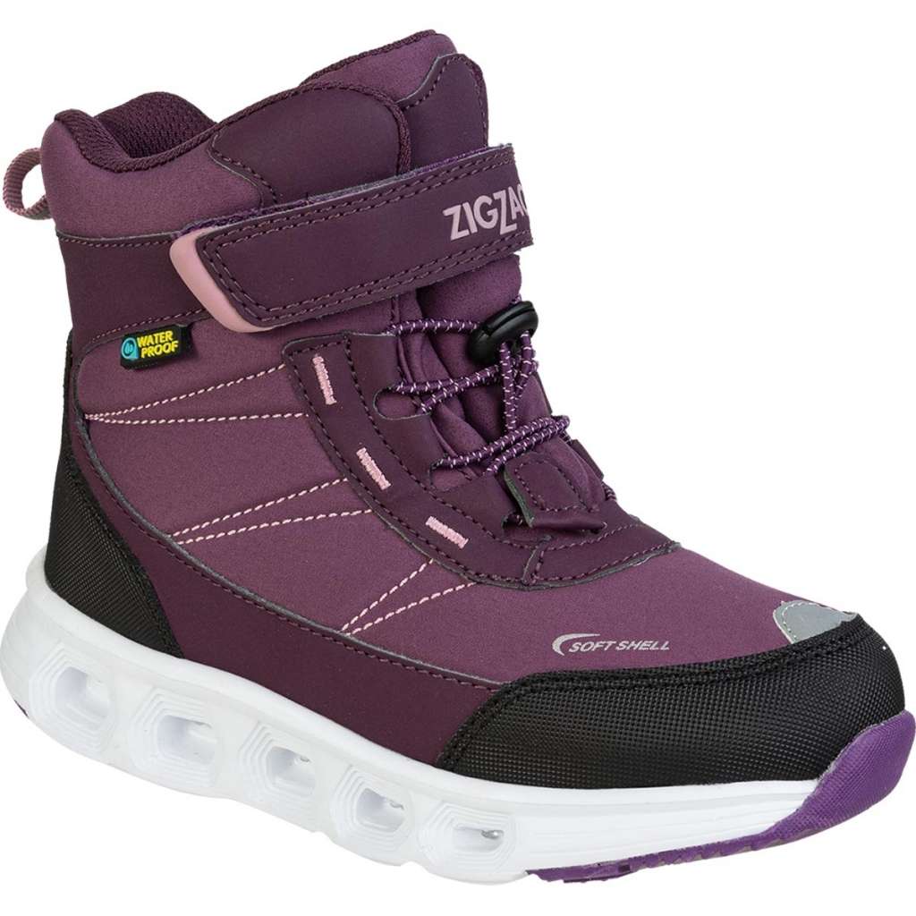 ZigZag Lasinu Kids Boot WP m/lys Purple